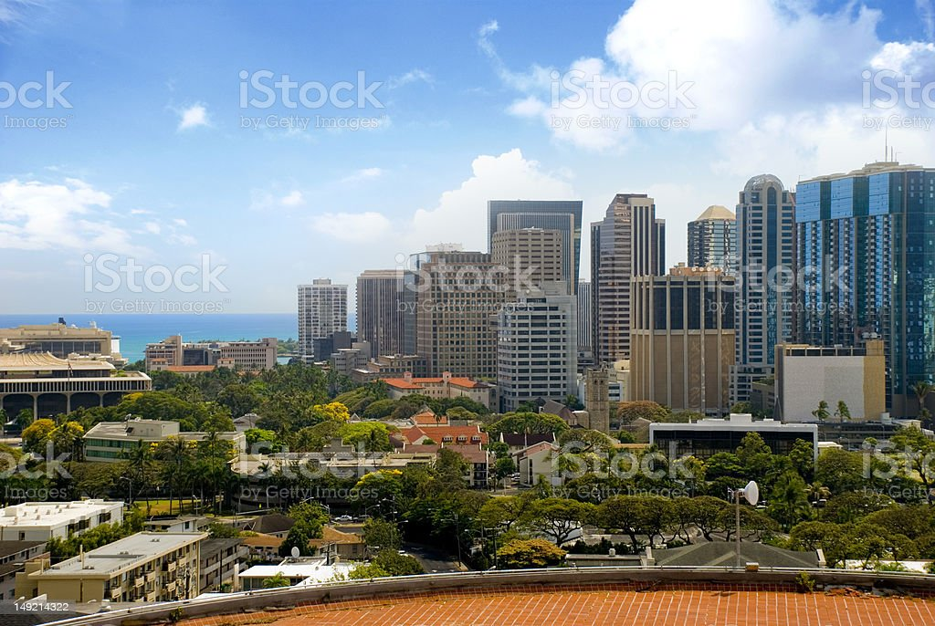 Downtown Honolulu royalty-free stock photo