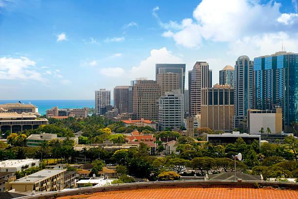 Downtown Honolulu stock photo