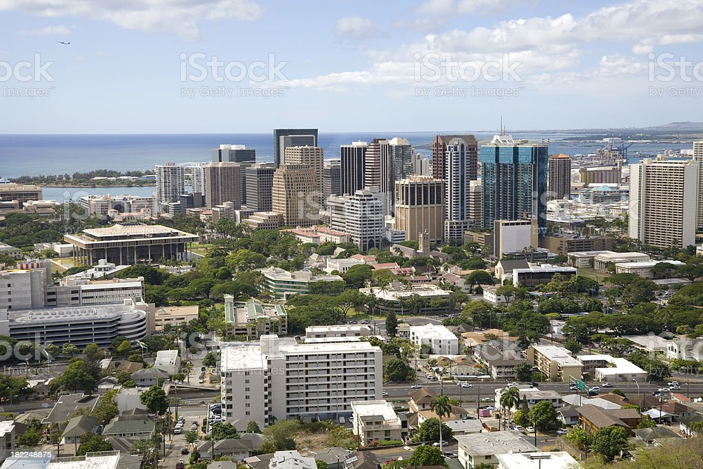 Downtown Honolulu royalty-free stock photo