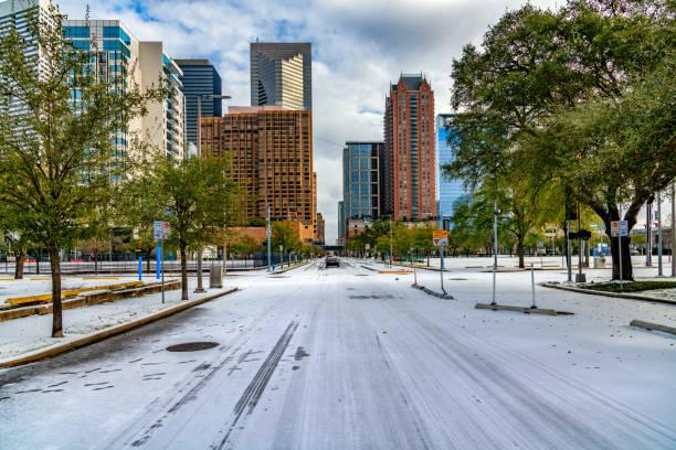 Downtown Houston City Street stock photo