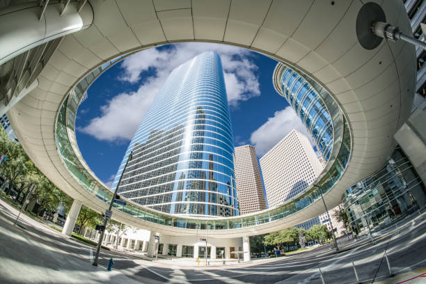 downtown houston sky walk - famous place stock pictures, royalty-free photos & images
