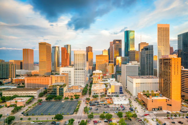 Downtown Houston skyline stock photo
