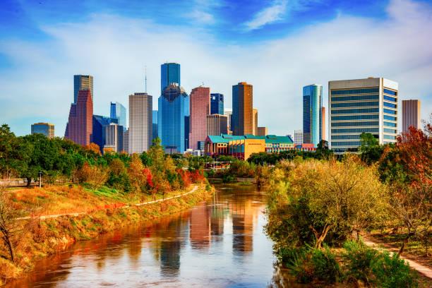 Downtown Houston Texas stock photo