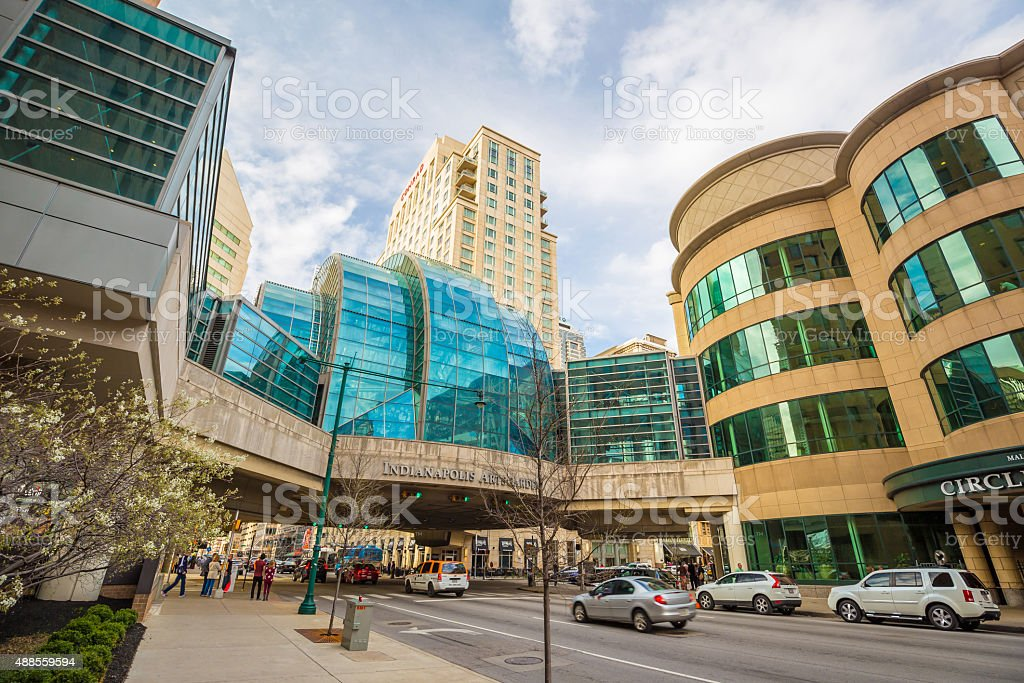 Downtown Indianapolis stock photo