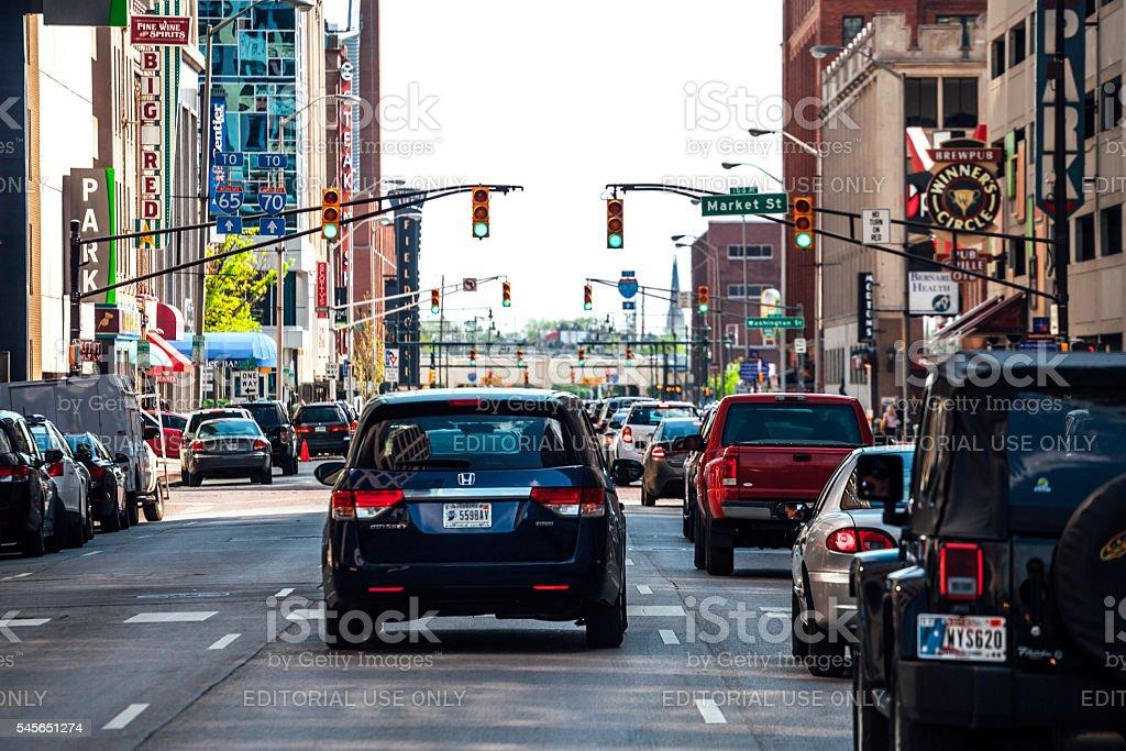 Downtown Indianapolis. stock photo
