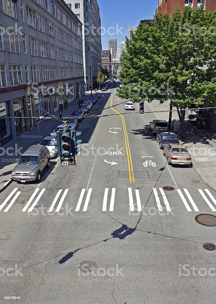 Downtown Intersection royalty-free stock photo