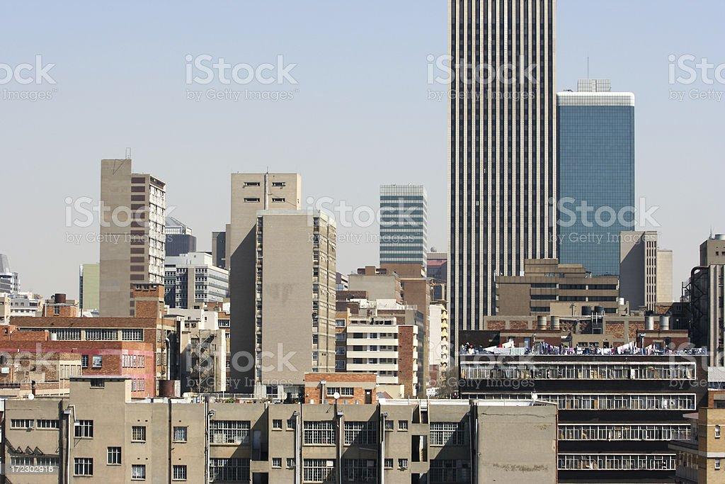 Downtown Johannesburg royalty-free stock photo