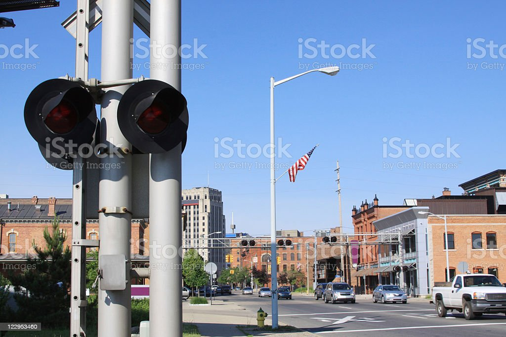 Downtown Kalamazoo, Michigan stock photo