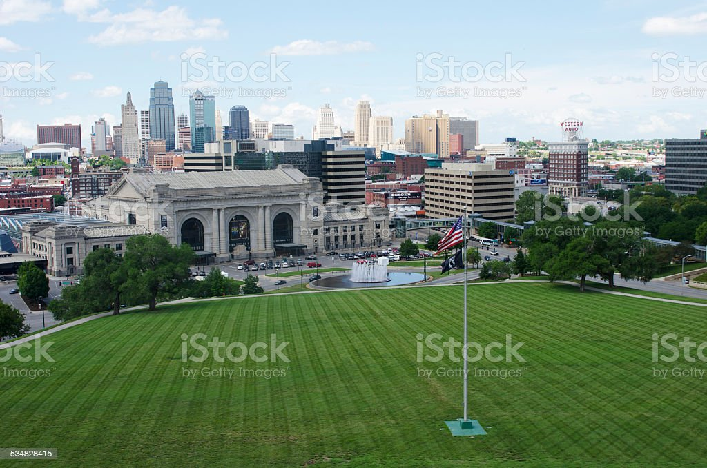 Downtown Kansas City, Missouri in Summer stock photo