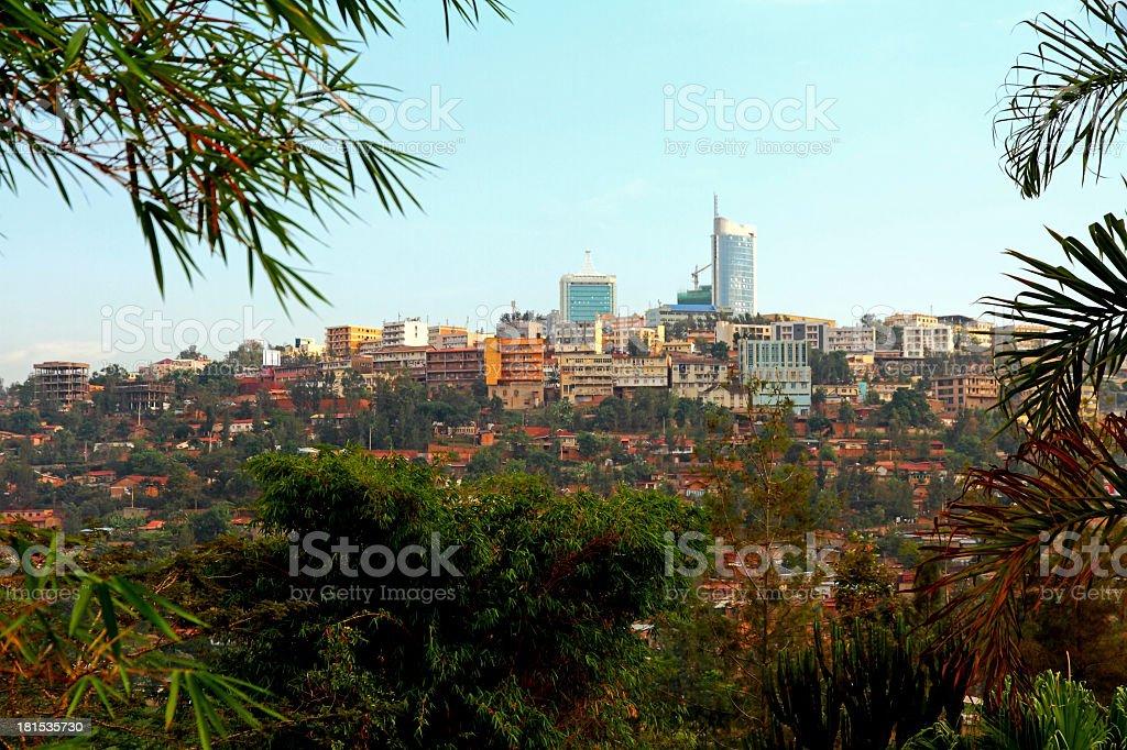 Innenstadt von Kigali, Ruanda - Lizenzfrei Afrika Stock-Foto