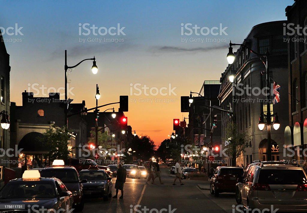 Downtown Kingston, Ontario Silhouette stock photo