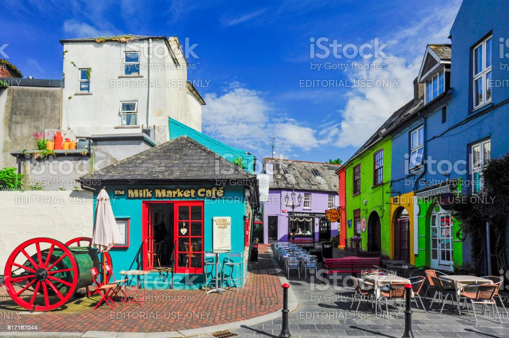 Downtown Kinsale stock photo