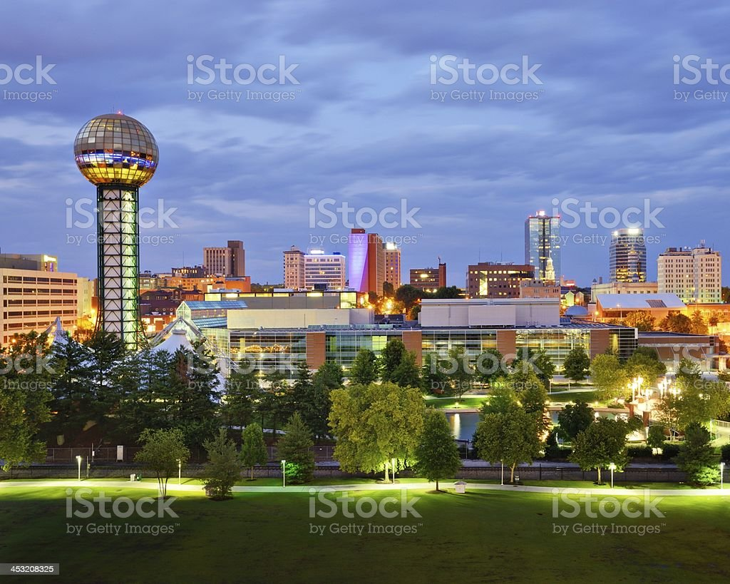 Downtown Knoxville stock photo