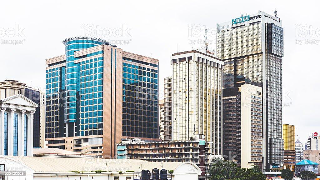 Innenstadt von Lagos, Nigeria. – Foto