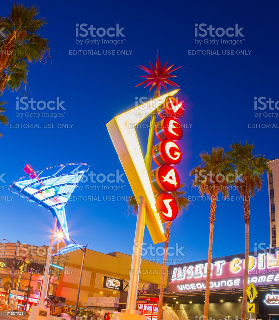 Downtown Las Vegas royalty-free stock photo