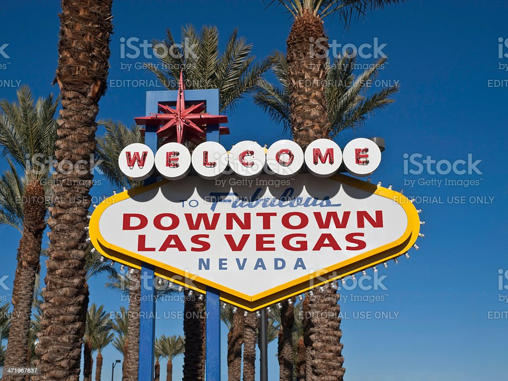 Downtown Las Vegas Welcome Sign royalty-free stock photo