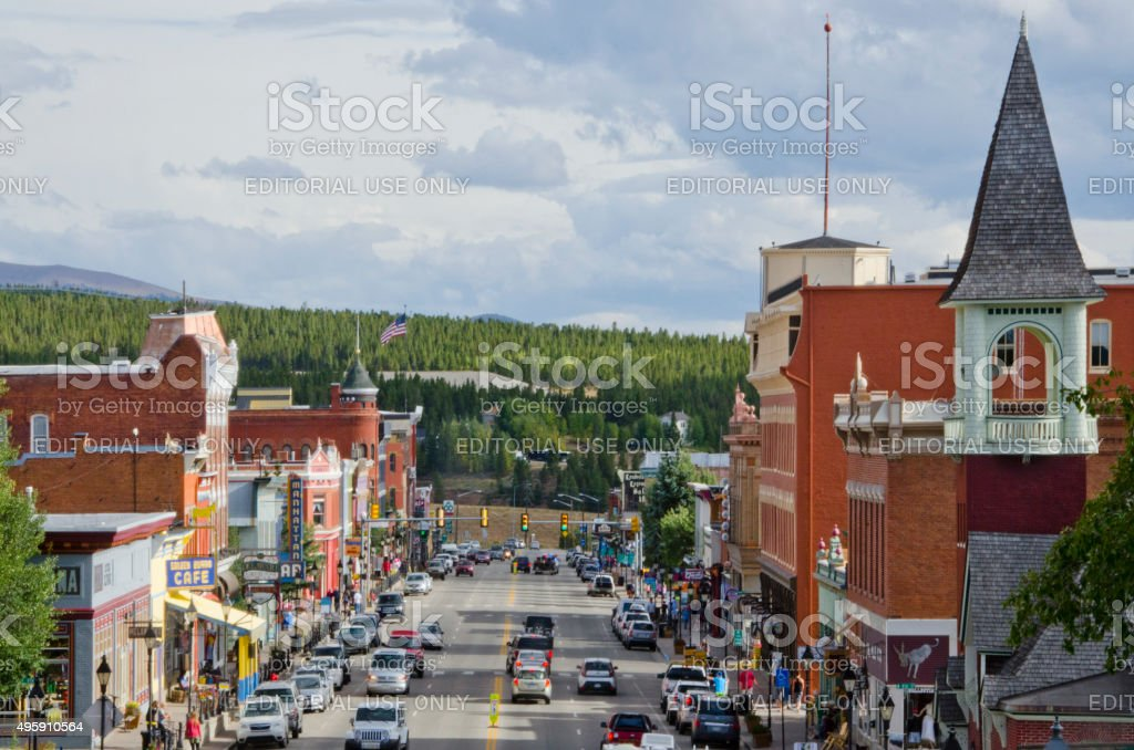 Downtown Leadville, Colorado in Summer stock photo