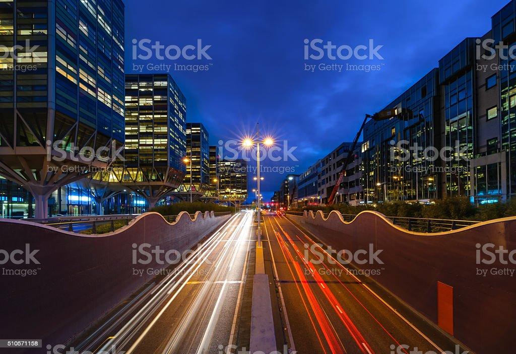 Downtown Leiden stock photo