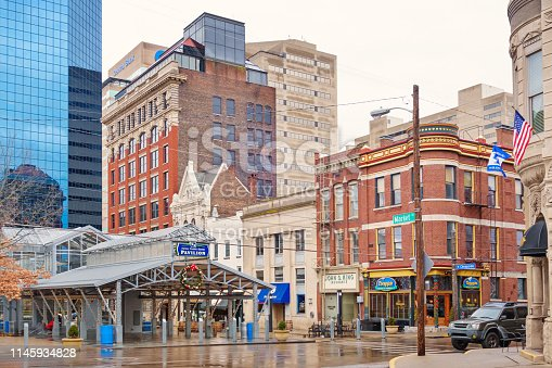 Town square in downtown Lexington Kentucky USA