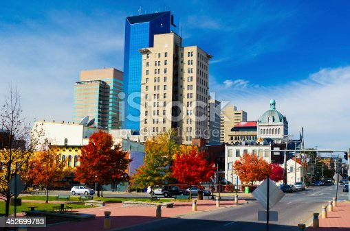 Downtown Lexington Skyline.  Lexington is the second largest city in Kentucky, and most famous for the Kentucky Derby Race, and is known as