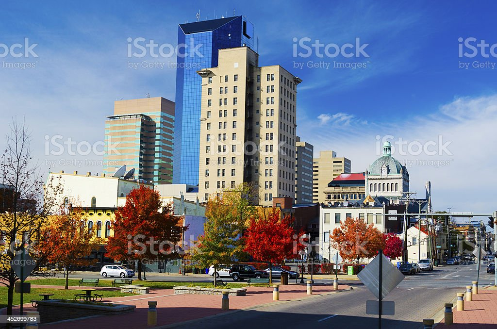 Downtown Lexington Skyline stock photo