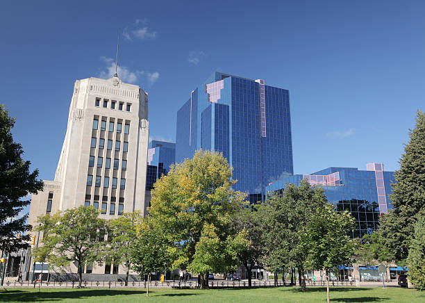 Downtown London Ontario Park stock photo