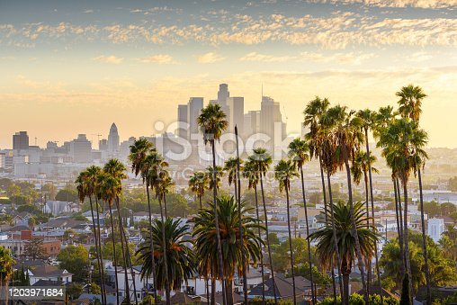 istock Downtown Los Angeles at sunset 1203971684