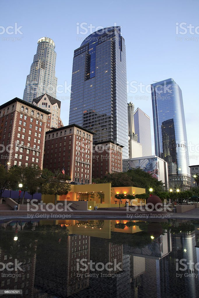 Downtown Los Angeles, CA royalty-free stock photo