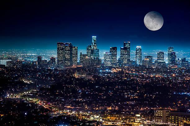 Der Innenstadt von Los Angeles Skyline – Foto