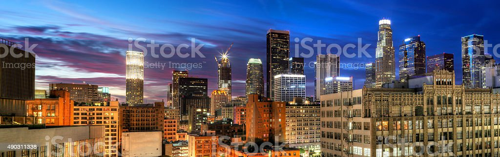 Downtown Los Angeles Panorama stock photo