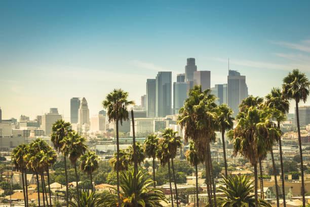 центр лос-анджелеса - деловой центр города стоковые фото и изображения