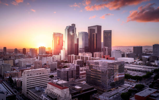 downtown los angeles - downtown stock photos and pictures
