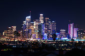 istock Downtown Los Angeles skyline at night 1155042919