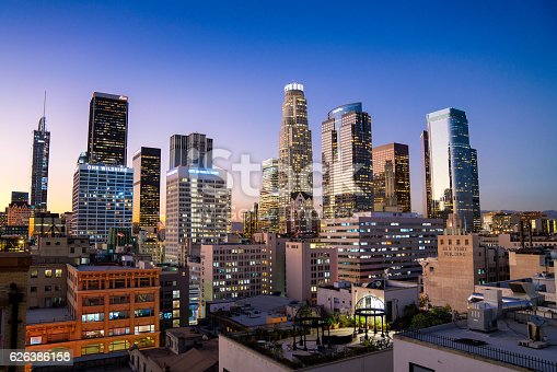 istock Downtown Los Angeles Skyline 626386158