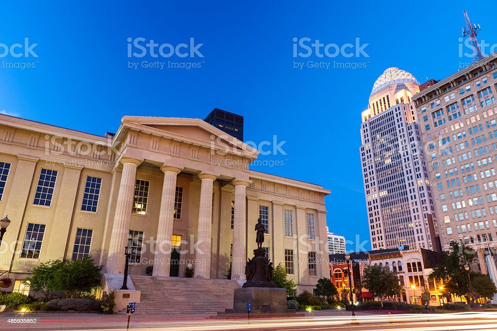 Downtown Louisville, Kentucky stock photo