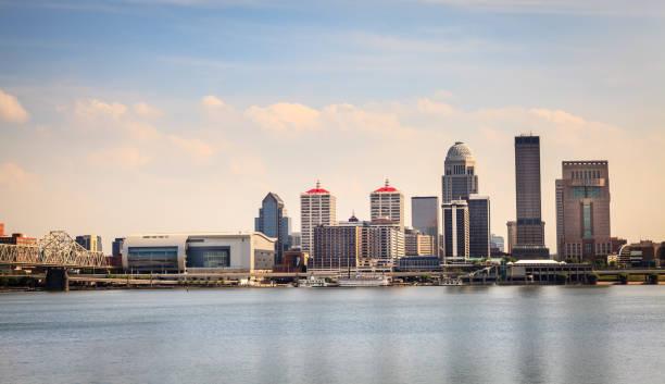 Downtown Louisville skyline stock photo