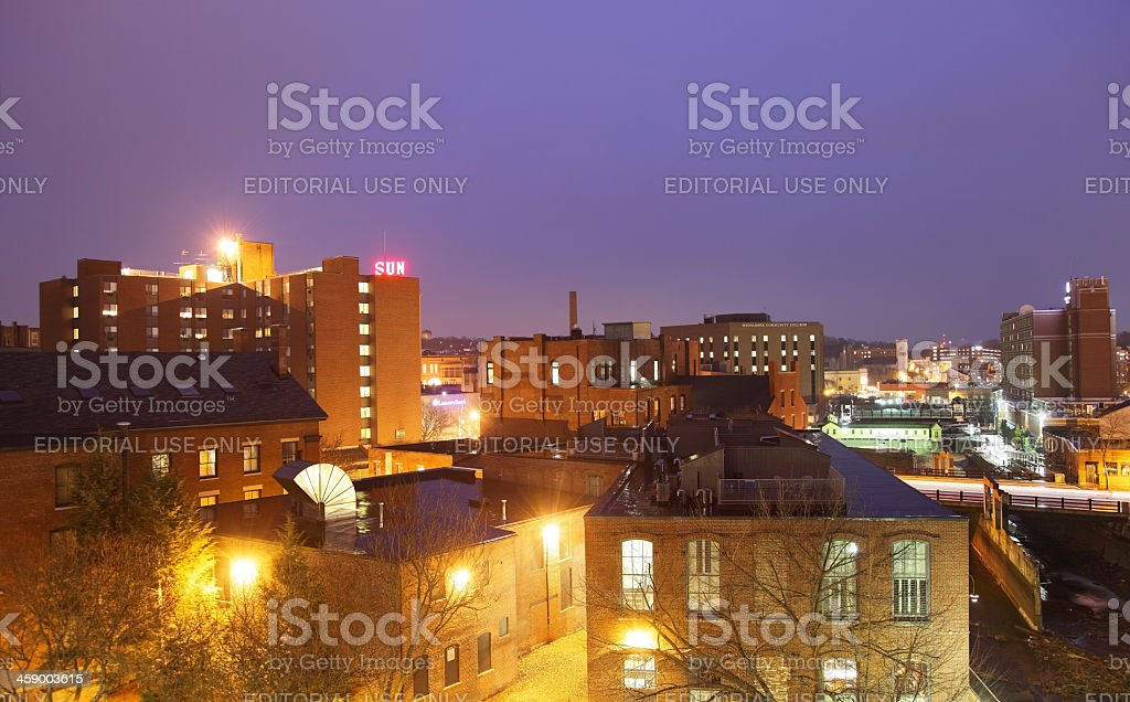 Downtown Lowell stock photo