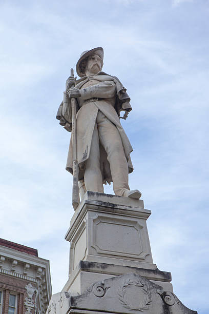 Downtown Macon Georgia Confederate Statue