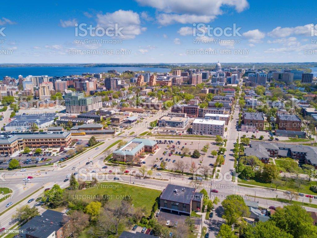 Downtown Madison Wisconsin stock photo