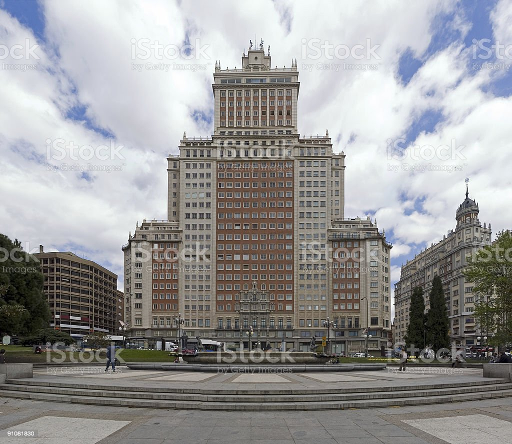 Downtown Madrid royalty-free stock photo