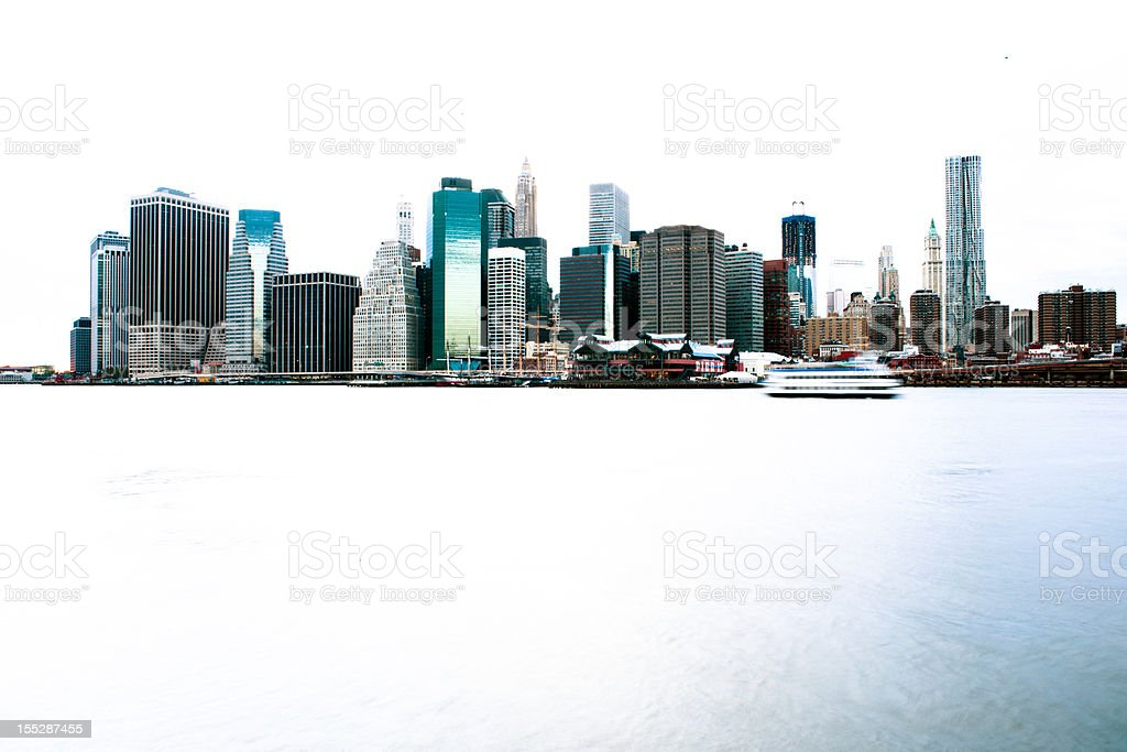 Downtown Manhattan at sunset royalty-free stock photo