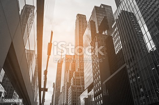 Lower Manhattan in New York City with breathtaking skyscrapers