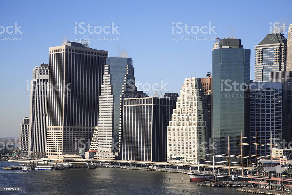 Downtown Manhattan, NYC royalty-free stock photo