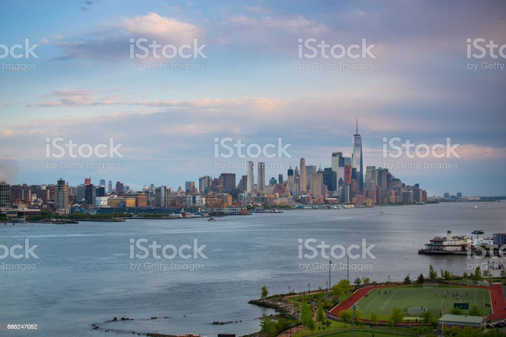 Downtown Manhattan royalty-free stock photo