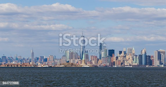 910867946 istock photo Downtown Manhattan view from Liberty Park 944722666