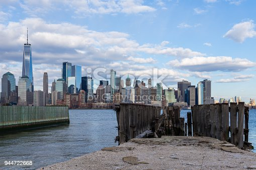 910867946 istock photo Downtown Manhattan view from Liberty Park 944722668