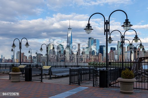 910867946 istock photo Downtown Manhattan view from Liberty Park 944722678