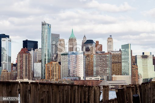 910867946 istock photo Downtown Manhattan view from Liberty Park 944722710