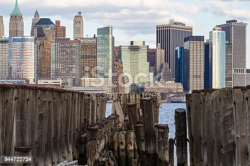 910867946 istock photo Downtown Manhattan view from Liberty Park 944722734