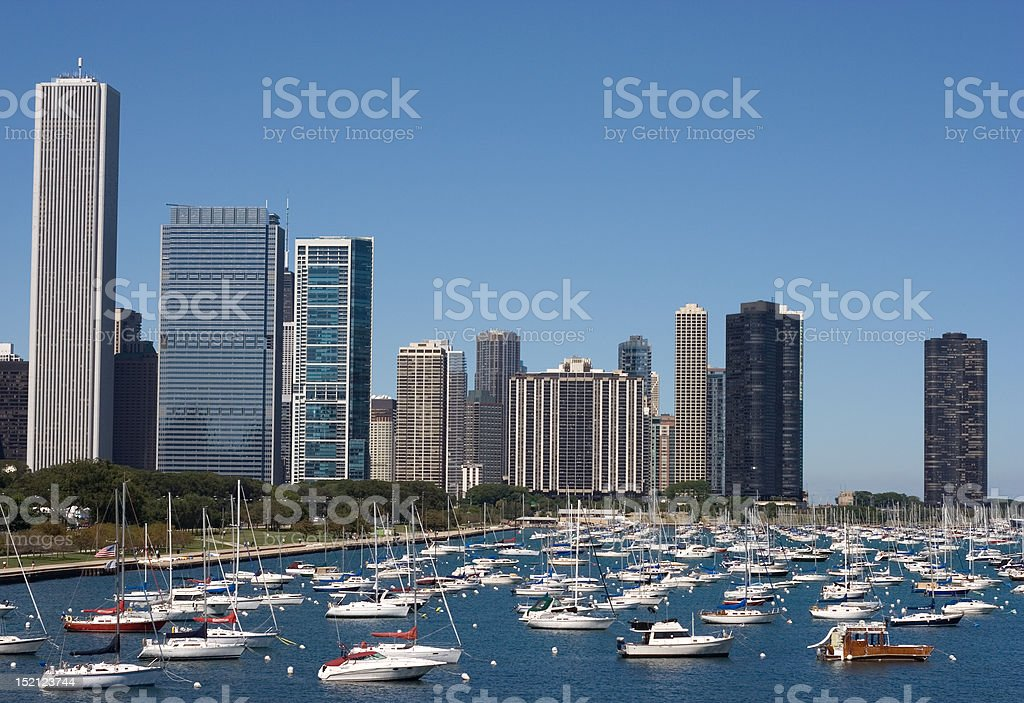 downtown marina stock photo
